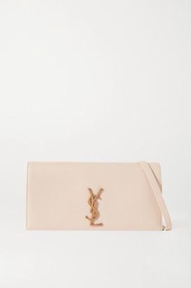 Saint Laurent Kate 99 Leather Shoulder Bag - Beige