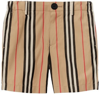 Burberry Signature Striped Cotton Shorts