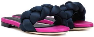 Marco De Vincenzo Braided satin slides
