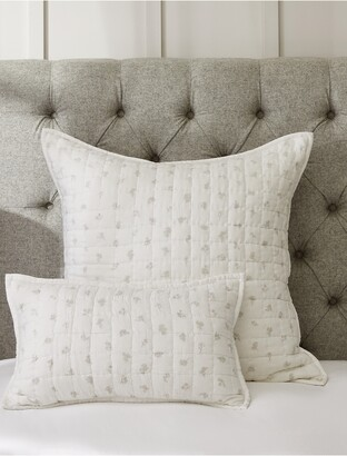 The White Company Lille Floral Quilted Cushion Cover
