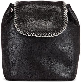 Stella McCartney Mini Shaggy Deer Backpack in Black | FWRD