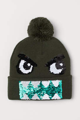 H&M Hat with Sequins - Green