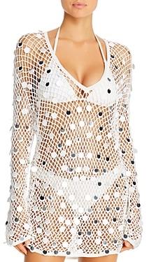 Caroline Constas Crochet Dress Swim Cover-Up