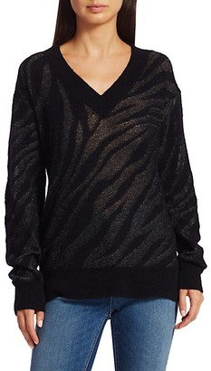 Rag & Bone Germain Zerba V-Neck Sweater