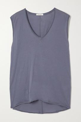 Rag & Bone The Gaia Organic Pima Cotton-jersey Tank - Blue
