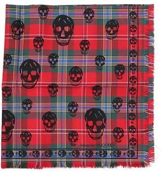 Alexander McQueen Tartan Skull Print Scarf