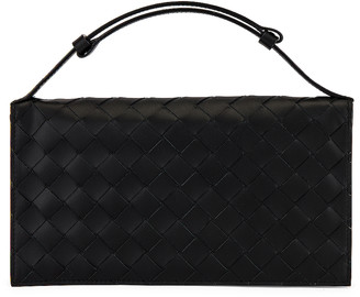 Bottega Veneta Wallet in Nero & Nero | FWRD