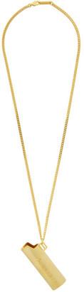 Ambush Gold Small Lighter Case Necklace