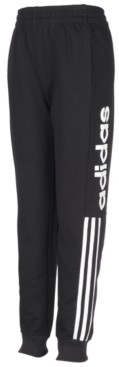 adidas Little Boys Cotton Logo-Print French Terry Jogger Pants