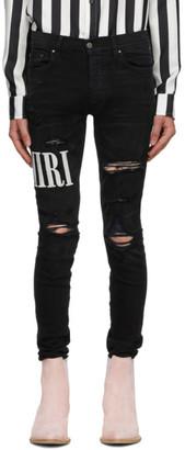 Amiri Black Logo Jeans