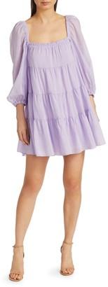 Alice + Olivia Rowan Babydoll Tiered Mini Dress
