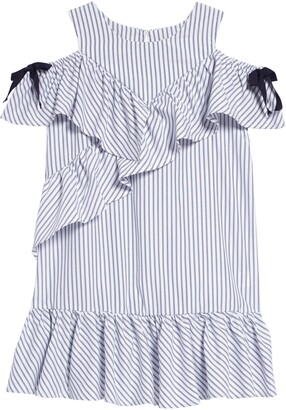 Habitual Ruffle Cold-Shoulder Shift Dress
