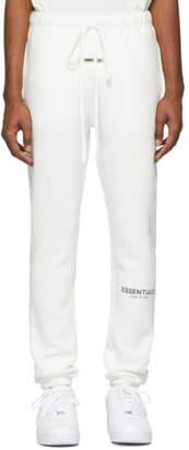 Essentials White Reflective Fleece Lounge Pants