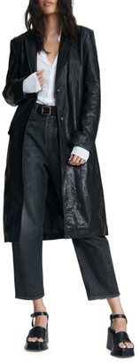 Rag & Bone Trinity Leather Coat