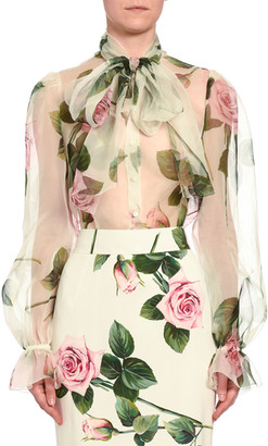 Dolce & Gabbana Floral Chiffon Blouse