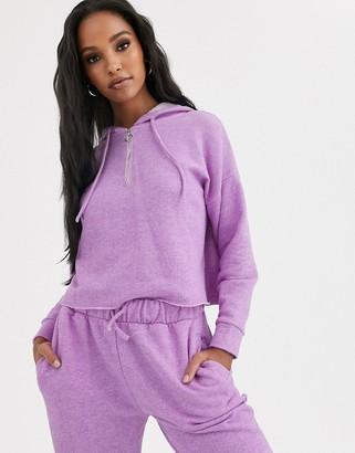 Asos DESIGN lounge mix & match loopback raw edge hoodie