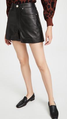 Rag & Bone Super High Rise Leather Shorts