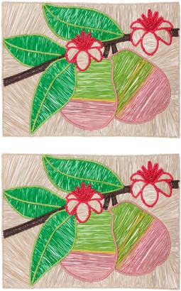 Mercedes Salazar Set Of 2 Guava Placemat