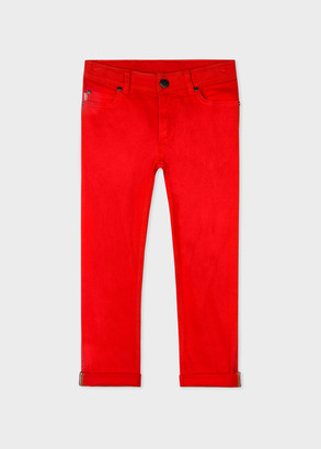 Paul Smith 8+ Years Red Stretch-Cotton Skinny Jeans