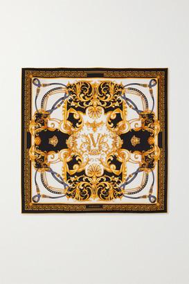 Versace Printed Silk-twill Scarf - Gold