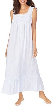 Eileen West Cotton Lace-Trim Ballet Nightgown