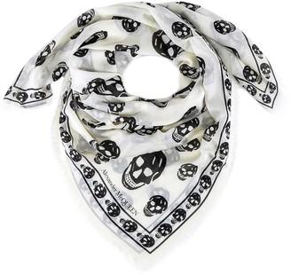Alexander McQueen All-Over Skull Logo Scarf