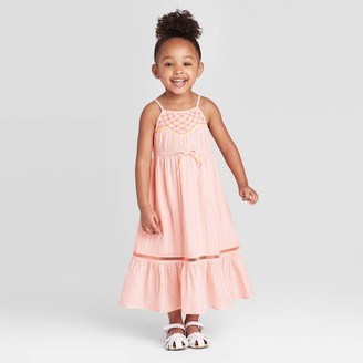 Cat & Jack Toddler Girls' Embroidered Maxi Dress with Shine - Cat & JackTM