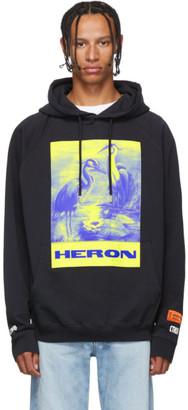 Heron Preston Black Paint Heron Birds Hoodie