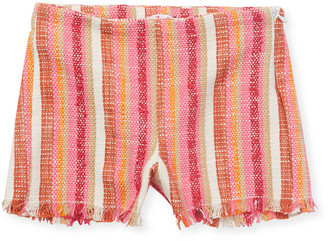 Il Gufo Little Striped Fringe Short