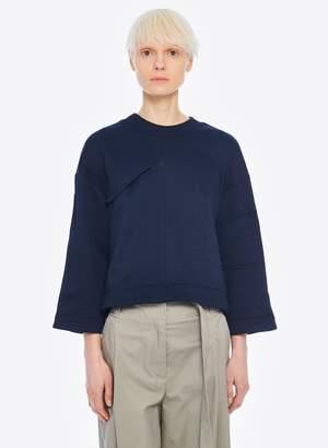 Tibi Tech Terry Sculpted Sleeve Sweatshirt