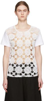 Comme des Garcons White Crochet Lace T-Shirt