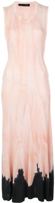 Proenza Schouler tie-dye long knitted dress