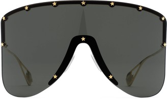 Gucci Mask sunglasses with star rivets
