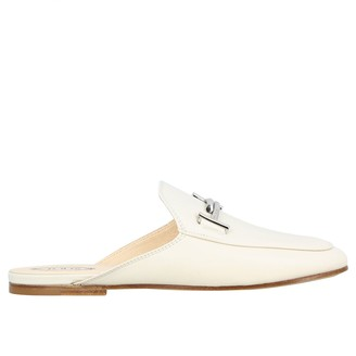 Tod's Sabot In Smooth Leather With Double T