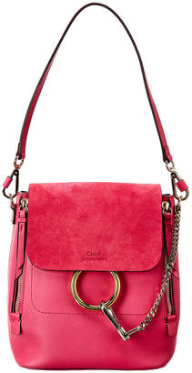 Chloé Faye Small Leather & Suede Backpack