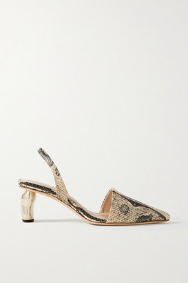 REJINA PYO Conie Snake-effect Leather Pumps - Snake print