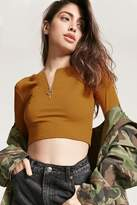 forever-21-ribbed-pull-ring-crop-top