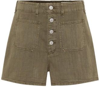 Rag & Bone Military high-rise cotton shorts