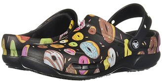 Crocs Bistro Graphic Clog (Black/Multi Donuts) Clog/Mule Shoes