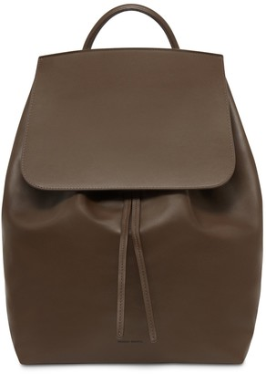 Mansur Gavriel Large Calf Backpack - Chocolate