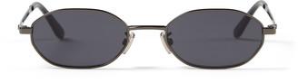 Jimmy Choo ED Black Ruthenium Fashion Sunglasses with Grey Lenses
