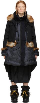 Sacai Black Insulated Denim Coat