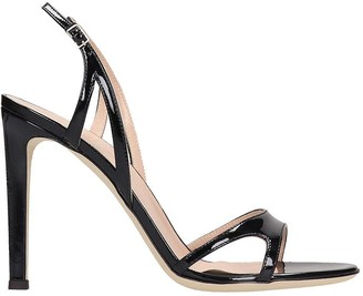 Giuseppe Zanotti Sandals In Black Patent Leather