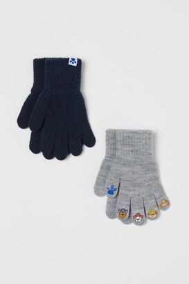 H&M 2-pack Gloves - Gray