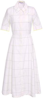 Emilia Wickstead Flared Checked Cotton-poplin Midi Shirt Dress