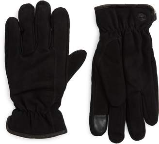Timberland Nubuck Leather Touchscreen Gloves