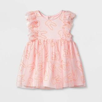 Cat & Jack Baby Girls' Bunny Dew Drop Dress - Cat & JackTM