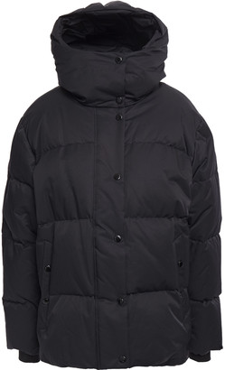 Rag & Bone Leonard Lace-up Quilted Cotton-blend Hooded Down Coat