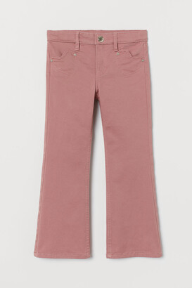 H&M Flared Twill Pants - Pink