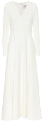 Carolina Herrera Bridal crepe gown